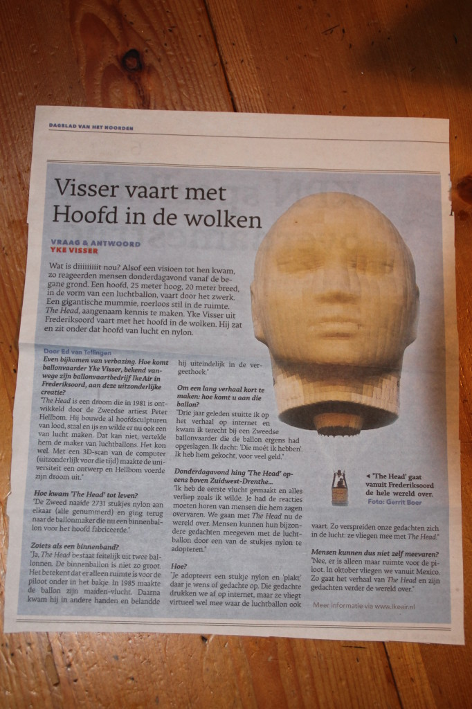 Dagblad van het Noorden van zaterdag 31 augustus2013